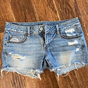 American eagle blue jean shorts size 10